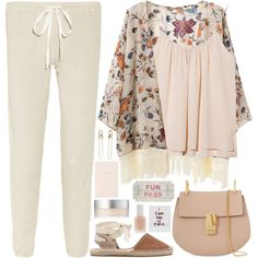 1985. The last rays of summer by chocolatepumma on Polyvore featuring polyvore, moda, style, OTTE, Clu, Soludos, Chloé, Tom Binns, RMK, Essie and Kate Spade