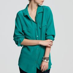 MAKE OFFER (Equipment) Equipment 100% silk slim fit blouse. Smoke and pet free home. Equipment Tops