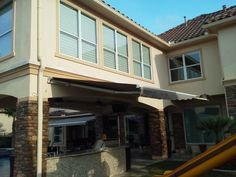 Motorized Pro 16'  SunSetter Retractable Awning from DunRite Playgrounds http://www.dunriteplaygrounds.com/store