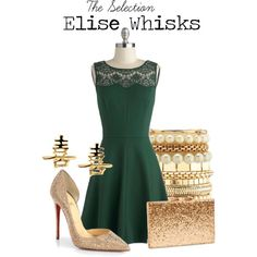 """Elise Whisks"" by charlizard on Polyvore Love the earrings!"