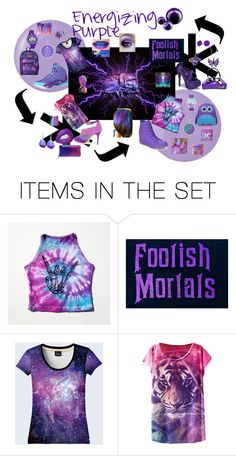 """""""Vibrating Purple"""" by uniquegoddess ❤ liked on Polyvore featuring art"""