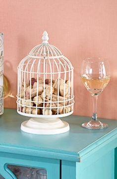Distressed Birdcage Wine Cork Collector - Wine Cork Catcher - Wine Lover #Unbranded