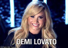 Demi during an X Factor USA Season 3 commercial promo