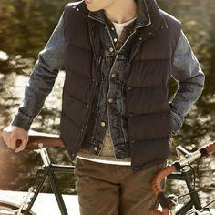 43618a367c510 colete esportivo gilet jaqueta jeans Roupas Masculinas