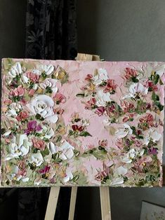 Dusty pink painting with white roses Green flower shrub, Decoration for bedroom Abstraction with flowers, Palette knife Made to order Pink Painting, Oil Painting Flowers, Painting Abstract, Abstract Landscape, Abstract Portrait, Portrait Paintings, Indian Paintings, Painting Art, Landscape Paintings