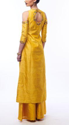 RENEE LABEL Amber Yellow Kurta And Palazzos
