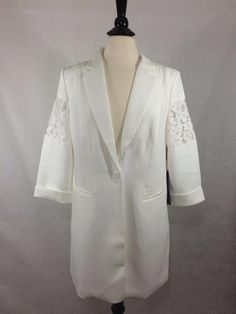 CHICO'S NEW $179 BLACK LABEL Lace Blazer Antique White Womens Top NWT #Chicos #Blazer #Career