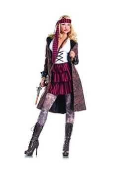 Adult Womens 3 Piece Mrs. Jack Sparrow Halloween Party Costume -- Be an angel this year for halloween with this amazing angel costume! #halloween2017 #angel #VS
