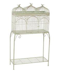 Three-Birdcage Outdoor Plant Stand | zulily