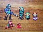 Zelda Link Grouping BeadSprite by ~SerenaAzureth on deviantART