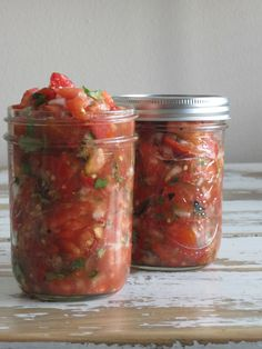 Homemade salsa - made from the bounty of your summer vegetable garden