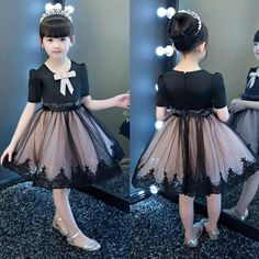 Teenage Girls Clothing Sets Tutu Skirt Set 2 pcs 2017 Spring Fall New Kids Clothes Sets for Children Long Sleeve T-shirt & Skirt Baby Girl Party Dresses, Little Girl Dresses, Baby Dress, Flower Girl Dresses, Girls Dresses, Kids Frocks, Frocks For Girls, Dress Anak, Kids Gown