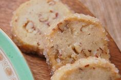 With their maply goodness, these treats are very New England–but with a Southern twist, thanks to pecans' nutty flavor. They're easy to make and can be stored in the freezer Icebox Cookie Recipe, Icebox Cookies, Pecan Cookies, Brownie Cookies, No Bake Cookies, Cupcake Cookies, Cookie Recipes, Freezer Recipes, Freezer Meals