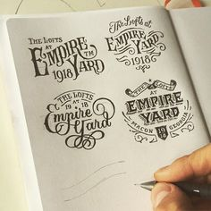 Oooh that bottom right one. Pick your favourite. Lettering by – use to be featured – Types Of Lettering, Brush Lettering, Lettering Design, Logo Design, Graphic Design, Calligraphy Letters, Typography Letters, Typography Prints, Vintage Letters
