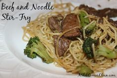 Beef and Noodle Stir-Fry Recipe at ASlobComesClean.com