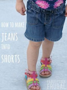 How to Make Jeans into Shorts (and Keep the Original Hem)
