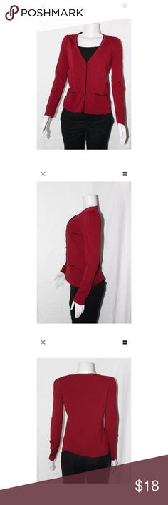 Ann Taylor Loft Red Winter Sweater Cardigan Size S ***All best reasonable offers accepted!***