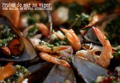 Frutos do mar no vapor