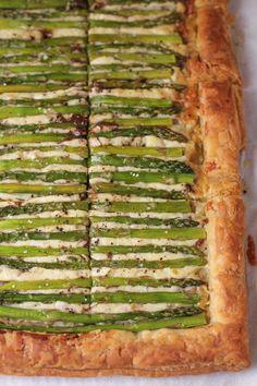 Asparagus Gruyere Tart - Hip Foodie Mom