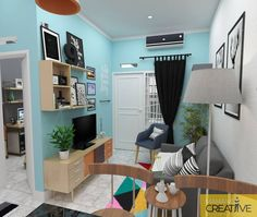 Trendy Home Studio Apartment Layout Small House Interior Design, Home Room Design, Living Room Designs, Home Living Room, Living Room Decor, Apartment Living, Studio Apartment Layout, Studio Apartments, Trendy Home
