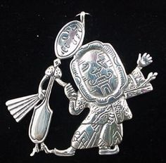 Dish-and-Spoon-Sterling-Christmas-Ornament-Pendant-1995-Hand-and-Hammer-1659
