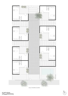 Social Housing Architecture, Concept Architecture, Architecture Design, Co Housing Community, Courtyard Apartments, L Shaped House, Courtyard House Plans, Small Courtyards, Residential Complex