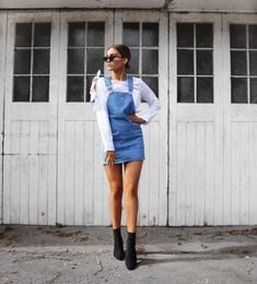 ✅✅✅ Sock Boots Outfit, Tumblr Outfits, Embroidery Fabric, Overall Shorts, Spring Outfits, Denim Skirt, Plus Size Fashion, Curvy, Socks