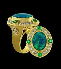 Opal, Emerald and Diamond....A fest for the eyes!