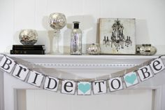 Bride To Be Banner - Bridal Shower Decorations - Bridal Shower Banners - Bachelorette Party CUSTOMIZE YOUR COLORS on Etsy, $20.00