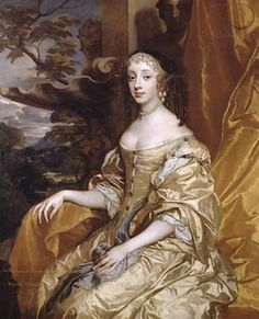 Princess Henrietta Anne Stuart, Duchesse d'Orléans, Charles II's beloved sister by Sir Peter Lely