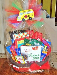 A Teacher's Gift Basket for Teacher's Day or End of School Appreciation