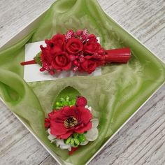 This fall, we send all hair pins with a small bonus and in gift wrapping) Red Wedding Flowers, Flower Crown Wedding, Lilac Flowers, Flowers In Hair, Red Roses, Rose Hair Clip, Flower Hair Clips, Floral Hair, Floral Crown