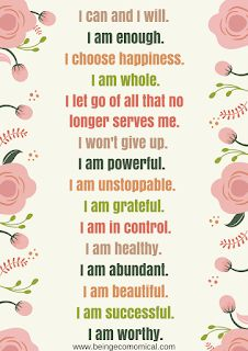 15 Positive Affirmations To Say Daily + FREE Printable