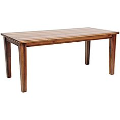 @Overstock - A generous 71-inch length provide plenty of surface space on this attractive Astaire dining table. This table also spotlights a sturdy wood construction and a rich exotic walnut veneer finish.http://www.overstock.com/Home-Garden/Astaire-Wood-Dining-Table/6620128/product.html?CID=214117 $812.99