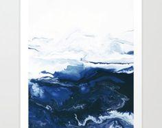 Watercolor Print Red Abstract Art Canvas Print Art by SABartStudio