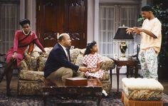 Can TV help diminish racism and homophobia? Janet Hubert (left), James Avery, Tatyana Ali and Will Smith in the first season of Fresh Prince of Bel Air.