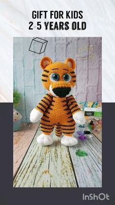 Mother's day, toddler, boy or girl years gift. Handmade Ideas, Etsy Handmade, Handmade Crafts, Tiger Stuffed Animal, Best Toddler Gifts, Jungle Decorations, First Birthday Gifts, Cool Gifts For Kids, Animal Decor