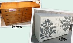 Lots of before & after painted furniture inspiration photos. Some have links to multiple pictures of various stages.