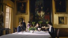 Downton Abbey and Highclere Castle interiors - breakfast room