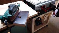 Bandschleifer stationär einsetzen Bauanleitung zum selber bauen