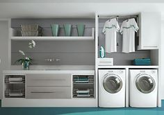 Laundry Room Inspiration: Neat and organized