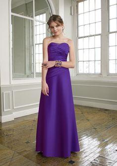 Satin Strapless Sweetheart Floor-length Bridesmaid Dress