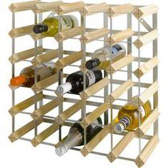 Buy Argos Home 30 Bottle Wooden Wine Rack Wine Racks, Wine Bottle Rack, Wine Storage, Argos, Storage Solutions, Wines, Barware, New Homes, Steel