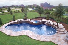 Backyard landscaping ideas swimming pool design north for Design pool klein