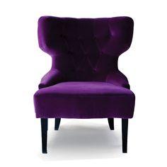 Lady fåtölj  - violett
