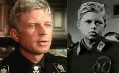 Hardy Kruger (as an actor on left) wound up in a SS Division as a 16-year-old. Of course, he survived the war and became a famous actor, but he was playing the part for real in the ruins of Berlin.