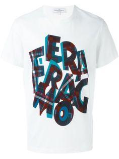 Salvatore Ferragamo Camiseta com estampa