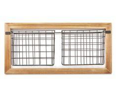 Farmhouse Decor: Save on Rustic Country Decor - Big Lots Metal Wall Basket, Black Wire Basket, Metal Baskets, Baskets On Wall, Basket Shelves, Entryway Furniture, Large Furniture, Country Decor, Farmhouse Decor