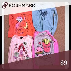GAP-Girls 4 shirts bundle!! GAP- Girls long sleeve shirts. In good condition, sold in bundle only GAP Shirts & Tops Tees - Long Sleeve