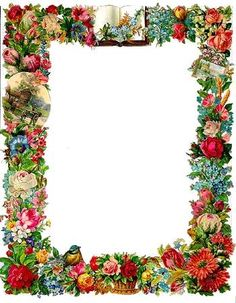 Beautiful victorian scrapbook frame